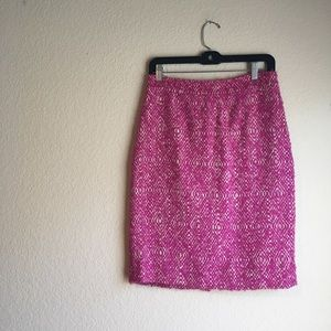 J crew no. 2 pencil skirt pink boucle